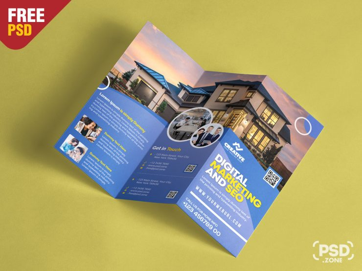 Corporate Brochure Design PSD Template