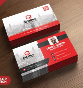 Corporate Business Card PSD Template