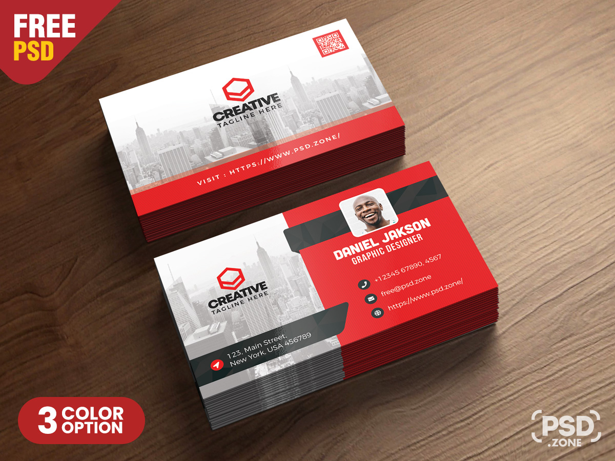 Corporate Business Card PSD Template - PSD Zone