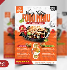 Restaurant Food Menu Flyer PSD