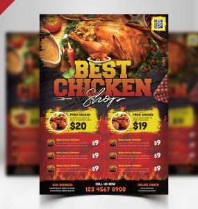 Restaurant Flyer PSD Template