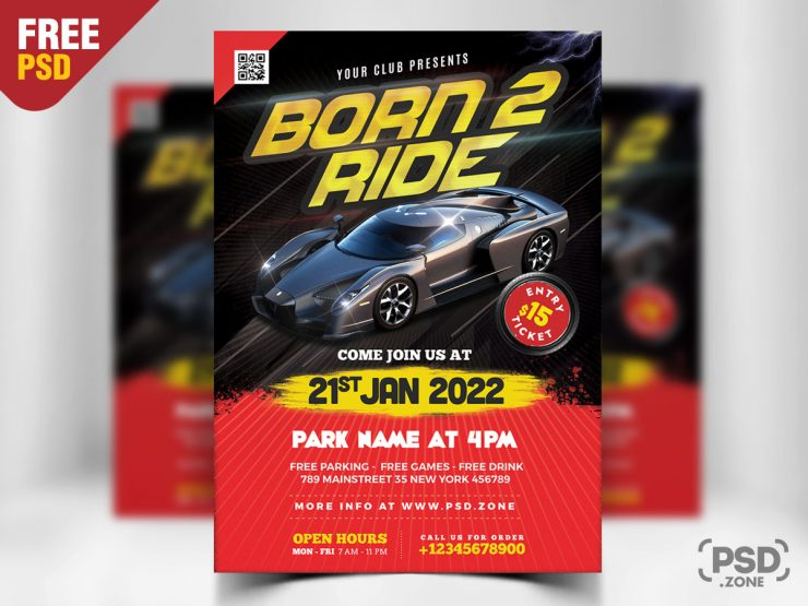 Car Show Event Flyer PSD Template