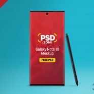 Galaxy Note 10 Mockup PSD