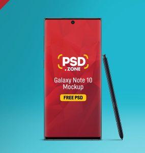 Galaxy Note 10 Mockup PSD