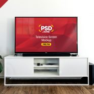 Television Screen Mockup PSD