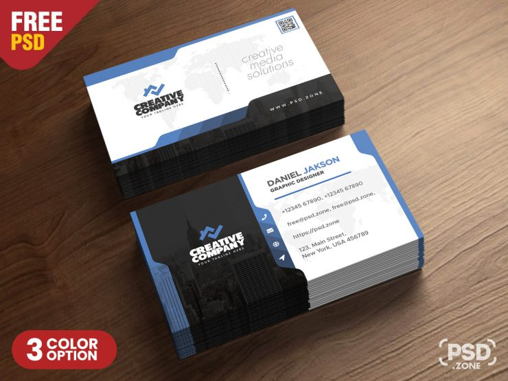 Agency Business Card PSD Template