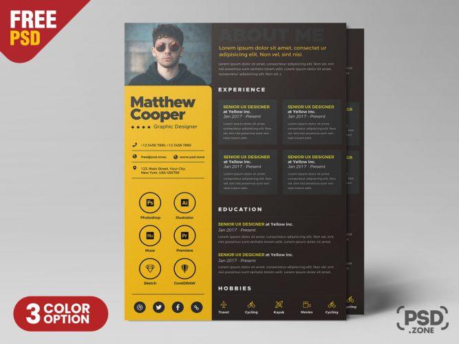 Creative Resume PSD Template