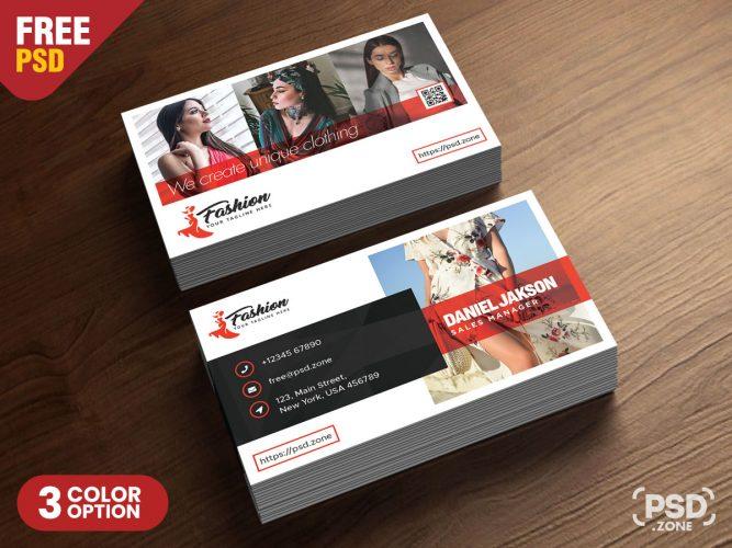Fashion Boutique Business Card PSD