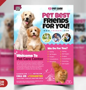 Pet Care Flyer PSD Template