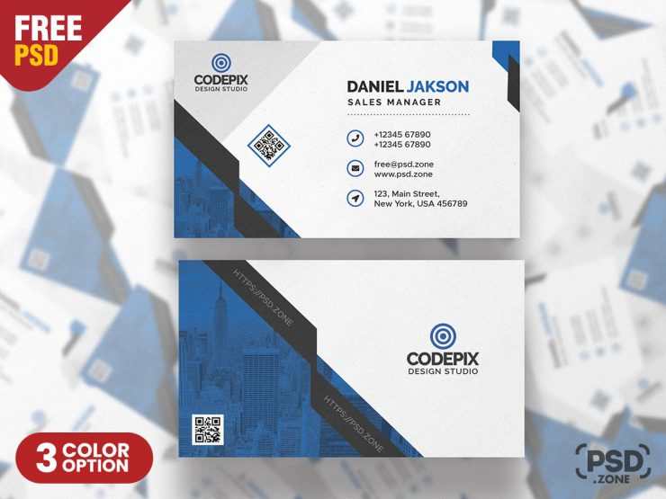 Modern Business Card PSD Template