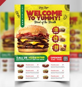 Restaurant Flyer Design PSD