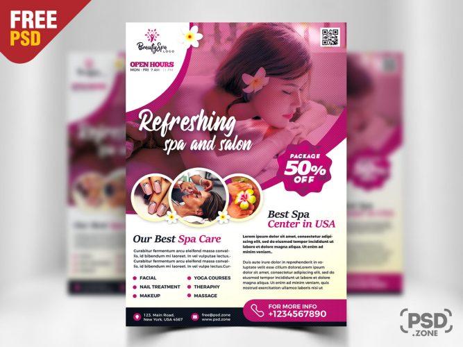 Spa Wellness Flyer Design PSD