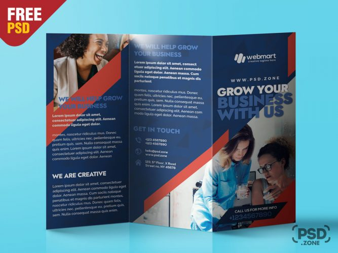 TriFold Brochure Design PSD Template