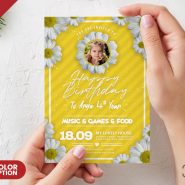Birthday Card Design PSD Template