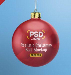 Christmas Ball Mockup PSD