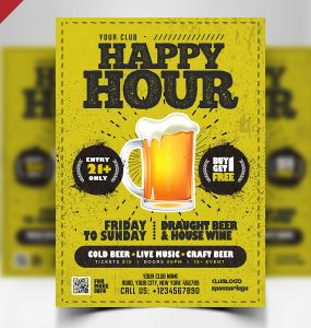 Happy Hour Flyer PSD Template