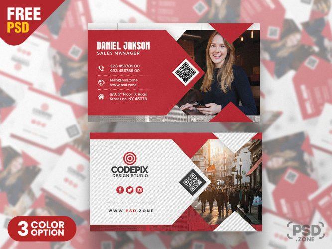 Modern Business Card Design PSD