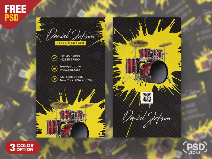 Music Band Business Card PSD