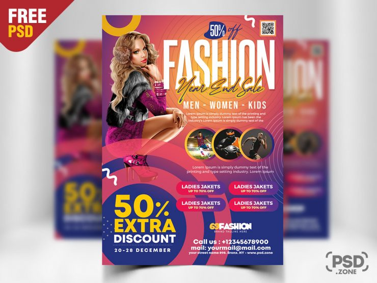 Year End Sale Flyer PSD