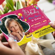 5x7 Birthday Invitation Card PSD