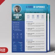 A4 Creative Resume Design PSD