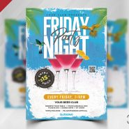 Cocktail Party Flyer PSD