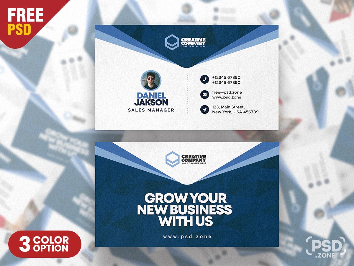 Creative Business Card Design PSD - PSD Zone With Creative Business Card Templates Psd