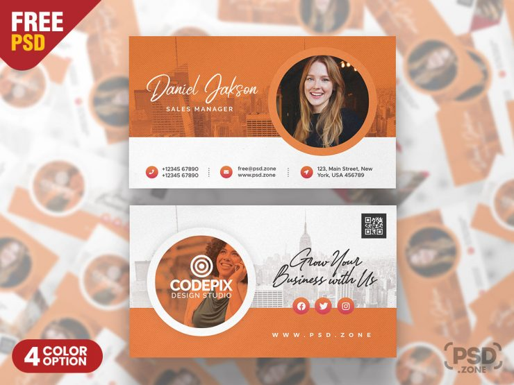 Best Corporate Business Card PSD Template
