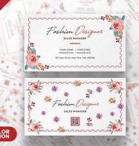 Fashion Designer Business Card Design PSD
