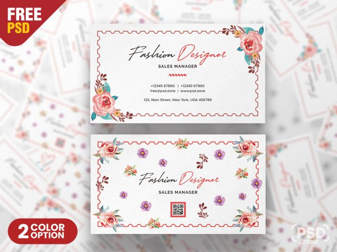 Fashion Designer Business Card Design PSD