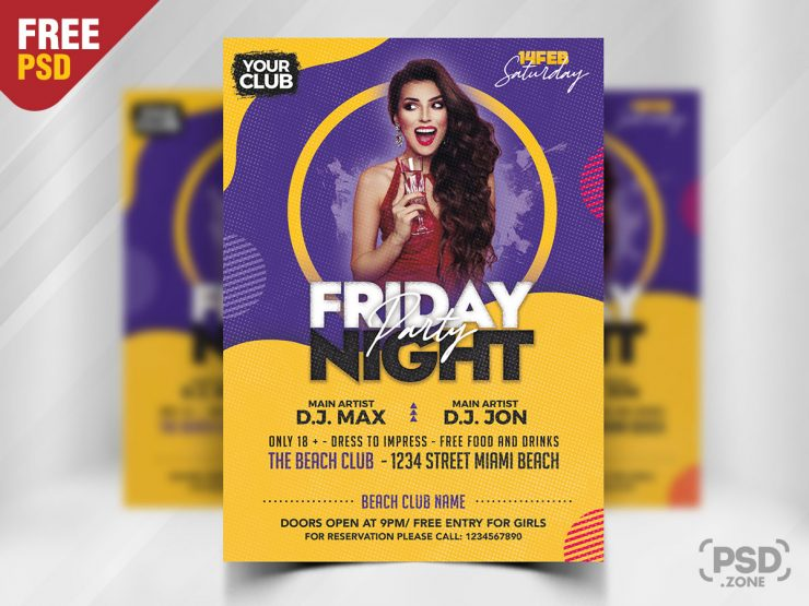 Awesome Party Flyer PSD Template