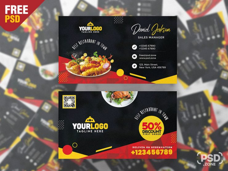 Restaurant Food Business Card PSD