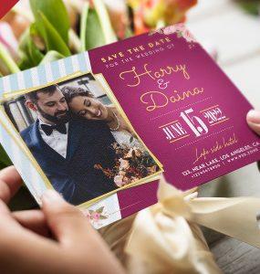 Elegant Wedding Invitation PSD Template