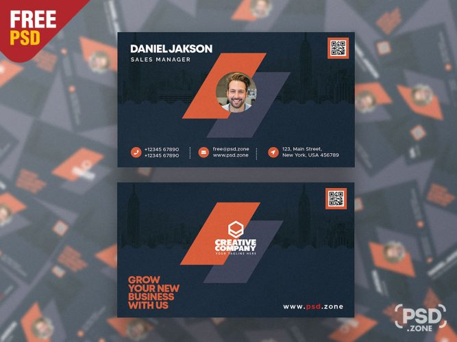 Modern Designer Business Card PSD Template