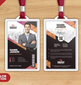 Office Employee Photo Identity Card PSD