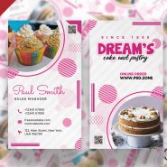 Cake and Pastry Shop Business Card PSD