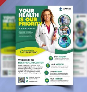 Hospital and Medical Clinic Flyer PSD