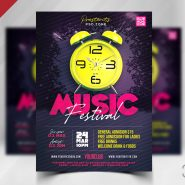 Modern Music Festival Party Flyer PSD