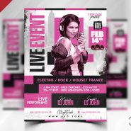 Awesome Live Music Event Flyer PSD