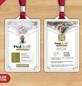 Beautiful ID Card Design PSD Template
