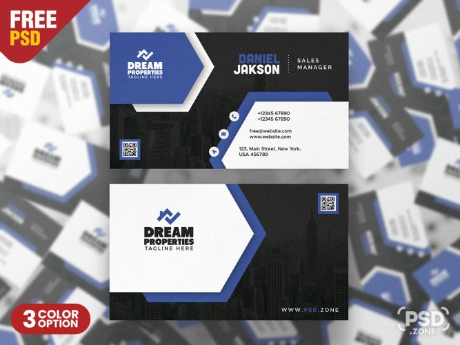 Elegant Business Card PSD Design