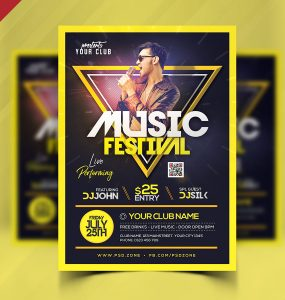 Live Music Festival Flyer PSD Template