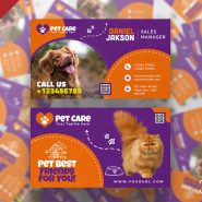 Pet Shop Business Card PSD Template