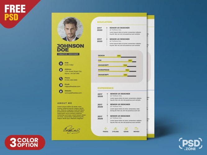 Resume Templates Archives Psd Zone