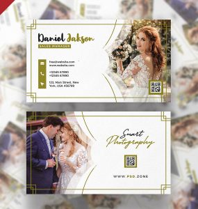 Wedding Photography Business Card PSD