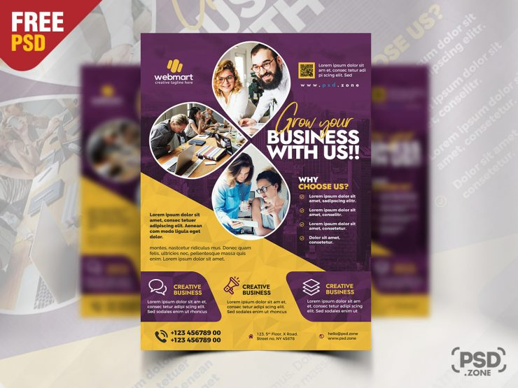 Business Promotion Flyer PSD Design