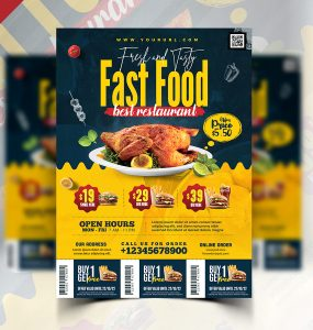 Fast Food Restaurant Promotion Flyer PSD