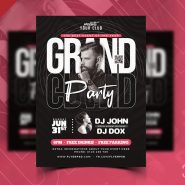 Premium Party Event Flyer Design PSD