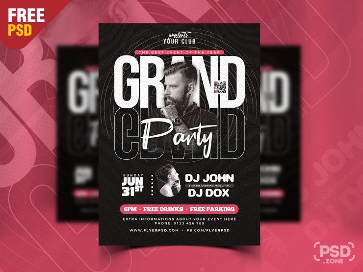Premium Party Event Flyer Design PSD