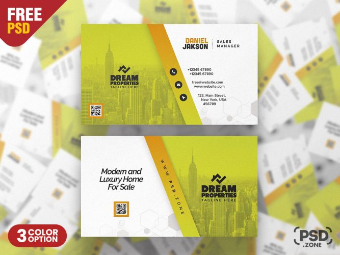 Professional Business Card Design PSD